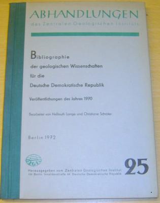 Bibliographie der geologischen Wissenschaften 25