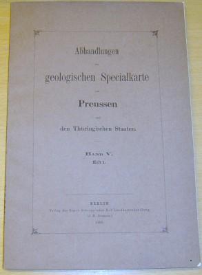 Abhandlungen zur geologischen Specialkarte von Pre