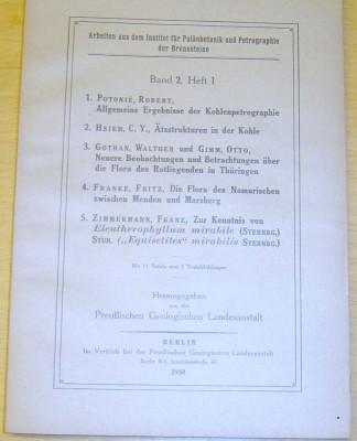 Arbeiten aus dem Institut für Paläobotanik und 2/1