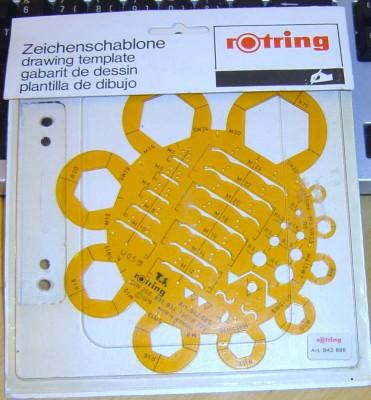 Zeichenschablone ISO/R 272 Rotring