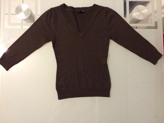 H&M Pullover 3/4 arm braun Gr. XS 34