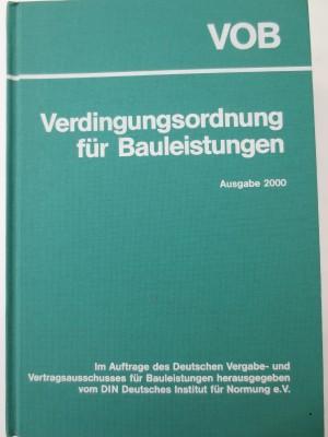 VOB 2000 - Verdingungsordnung für Bauleistungen