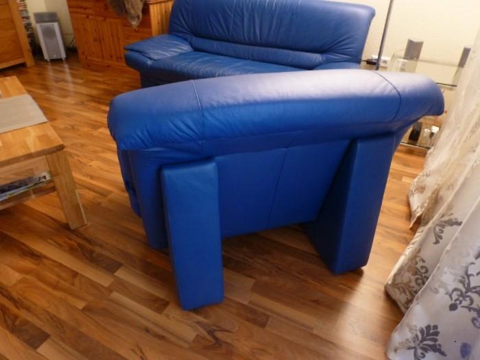 Ledercouchgarnitur 3+1 (Sofa+Sessel) VB 99€