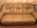 Sofa-3 sitzer Leder-Beige für 50€