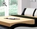 Bett (schwarz / weiß) günstig abzugeben - Vorschaubild 1