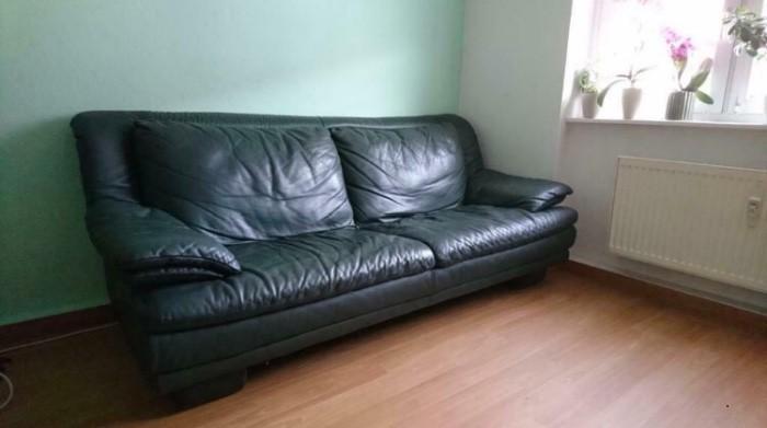 Echtleder Couch Sofa