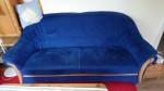 Sofa, blau, 2,5-Sitzer
