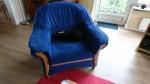 Sessel, blau