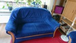 Sofa, blau, 2-Sitzer