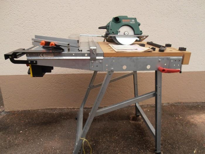 Werk und Maschinentisch + Tischkreissäge Bosch BKS
