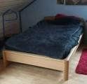 Futonbett mit abnehmbarem Nachttisch (neuwertig)