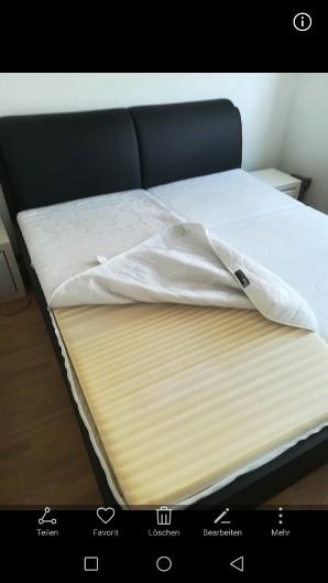 Bett 1,80x2,00 in Leder schwarz 80€
