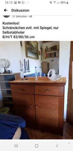 3 Möbelstücke, kostenlos für Selbstabholer