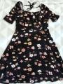 Schwarz Sommerkleid mit Blumen - Orsay, Gr:S