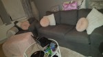 Ikea Ektorp 3er Schlafsofa mit Sessel