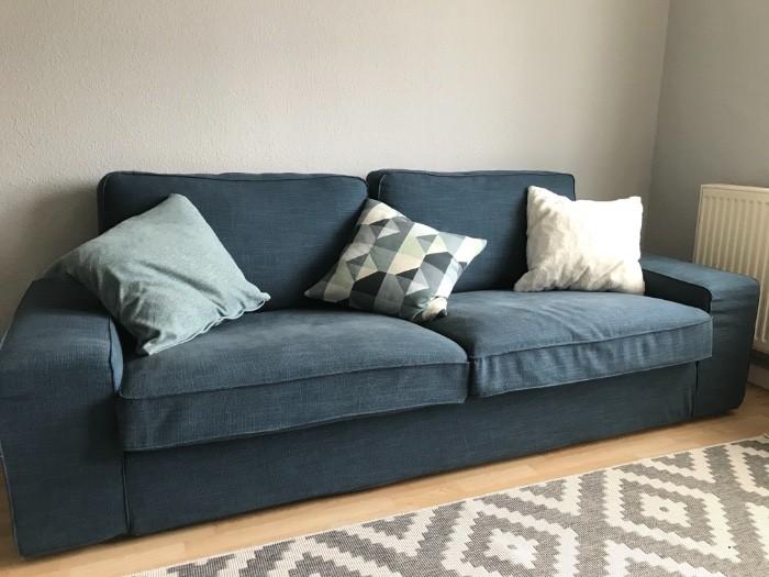 3 Sitzer Couch IKEA Kivik dunkelblau