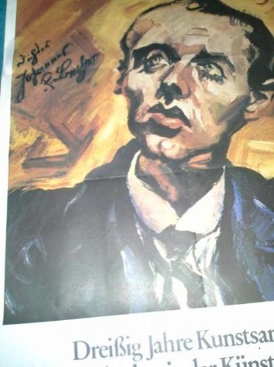 A1 Plakat aus 1980 Johannes R Becher AdK Berlin