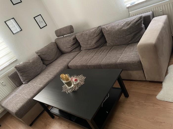L-Sofa mit Stauraum und Schlaffunktion