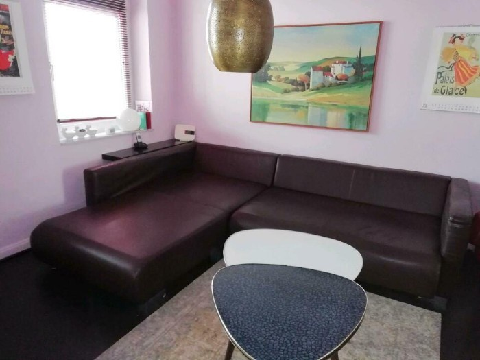 Verschenke Großes Ecksofa, Couch, Liegefläche