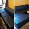 Sofa Kunstleder schwarz