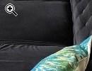 Chesterfield Couch Sofa schwarz Samt 4-Sitzer - Vorschaubild 2
