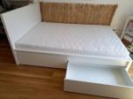 Doppelbett mit Matraze, neu 1 Jahr alt