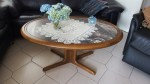 Wohnzimmer Tisch Marmorplatte Gestell Eiche